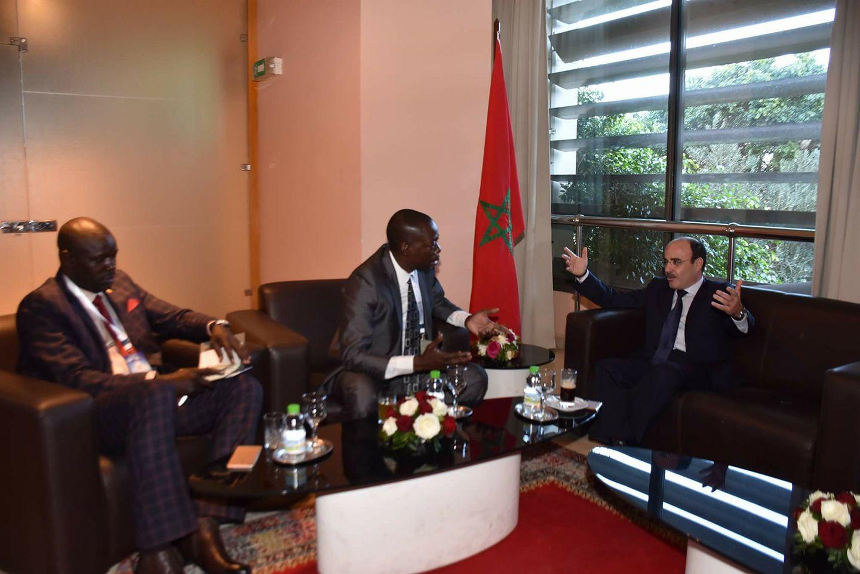 إلياس العماري يجتمع بعمدة لابغار السينغالية السيد إدريسا ديوب ونائب عمدة في مالي السيد كوليبالي أبدولاي